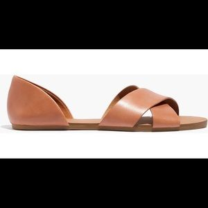 Madewell Thea Criss Cross leather flats sandals